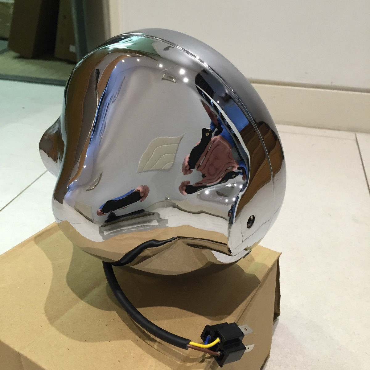 Cafe Racer Headlight Assembly : Motorcycle cafe racer headlight assembly casing for all