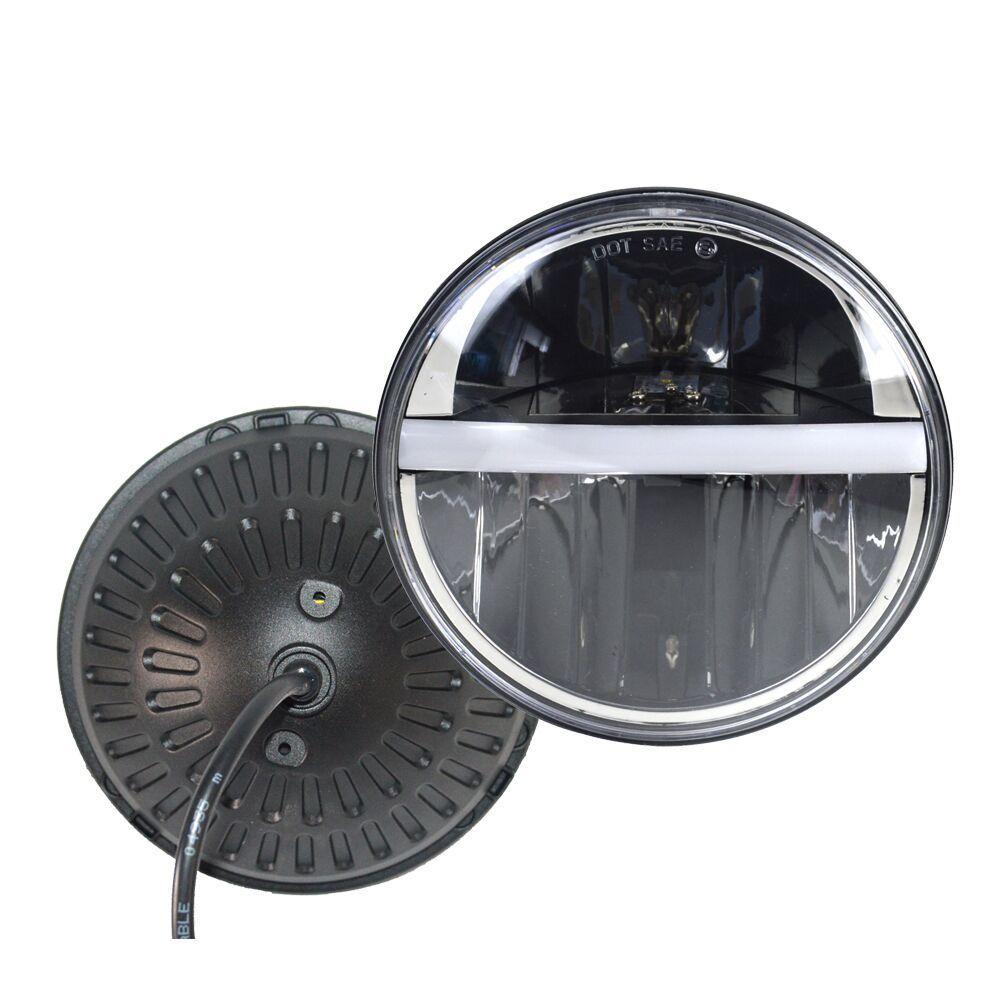 Hide Wiring Headlight Cafe Racer : Headlight headlamp led cree light quot cafe racer