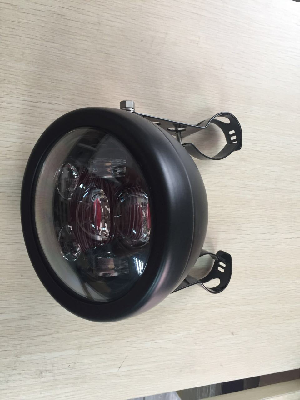 Cafe Racer Motorcycle Headlight : Quot led w headlight lamp harley davidson ducati cafe