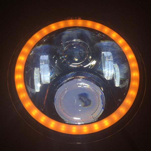 Motorbike Cafe Racer Cree Led Headlight Black 7 Quot 50w E